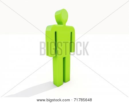 Figure of a man on a white background