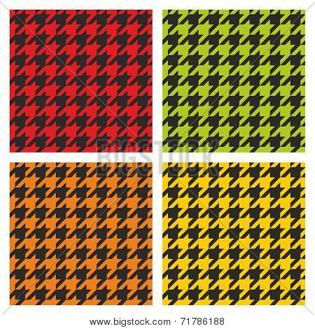 Tartan vector black, green, yellow and orange background collection.