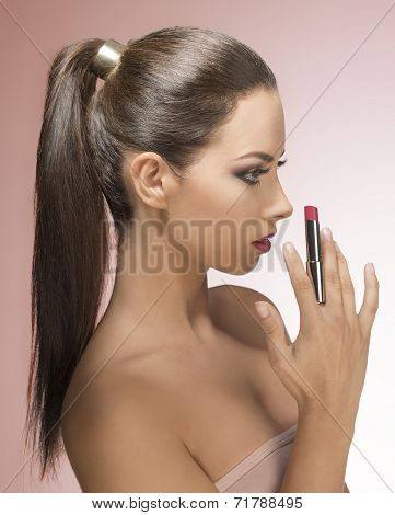 Woman With Stylish Make-up