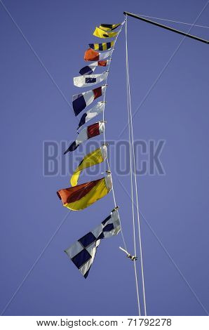 Nautical Flags Waving