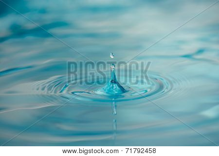 Water Drop on Calm Surface