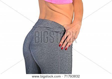 Isolated Woman Bottom