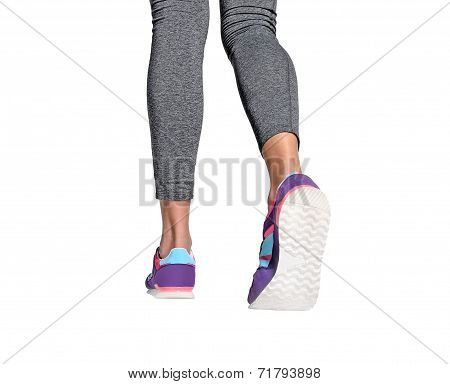 Isolated Woman Feet