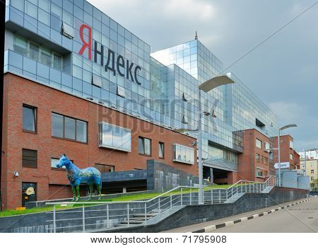 MOSCOW, RUSSIA - JULY 6, 2014: New Headquarter of Yandex company. The building get the Best Office Awards 2011 in the nomination