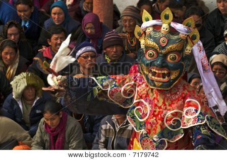 Mask dance Matho Festival