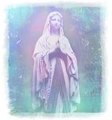 picture of mary  - Blessed  Mary portrait on abstract background  - JPG