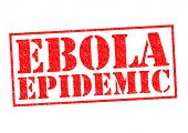 pic of epidemic  - EBOLA EPIDEMIC red Rubber Stamp over a white background - JPG