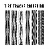stock photo of dirt-bike  - Tire tracks collection - JPG