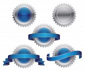 picture of rosette  - Silver Blue Award Medals - JPG