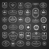 stock photo of chalkboard  - Vintage vector design elements - JPG