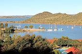 pic of dam  - Harbor of the Gariep dam in South Africa - JPG