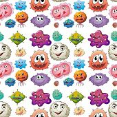 stock photo of germs  - Illustration of a seamless germs - JPG