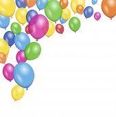 foto of floating  - Colorful vector party and birthday floating balloons for anniversary and holiday concept - JPG
