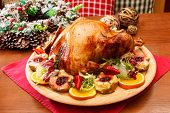 picture of christmas meal  - Christmas turkey - JPG