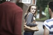 picture of she-male  - Teenage Girl Feeling Intimidated As She Walks Home