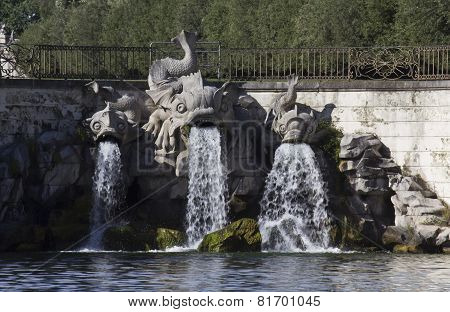 Caserta Royal Palace Garden fountain