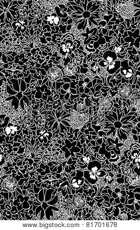 Seamless pattern beautiful decorative lace