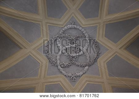 Caserta Royal Palace staircase ceiling