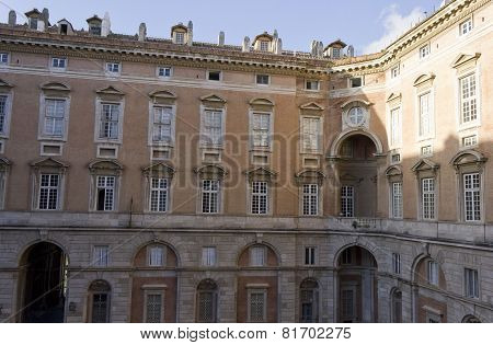 Caserta Palace Royal indoor facade.