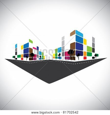 Vector Icon - Building Of Home Apartment Or Super Market Or Office Space