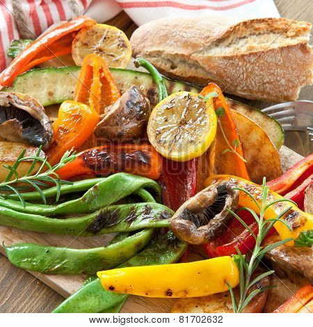 Colorful Grilled Summer Vegetables