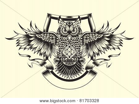 Illustration of owl.