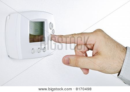 Hand-Einstellung digitalen thermostat