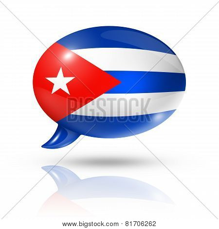 Cuban Flag Speech Bubble