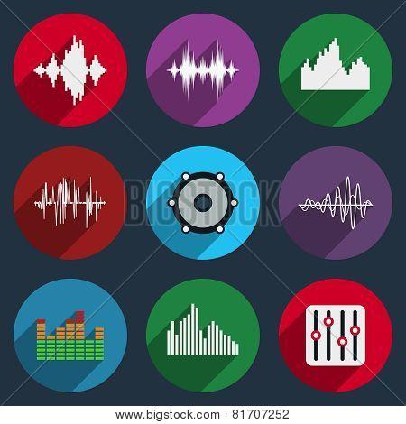 Music soundwave icons