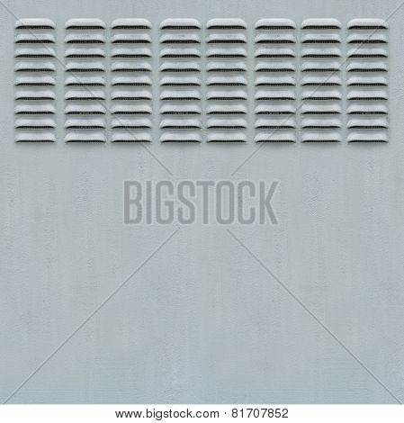 Metal Panel With Ventilation Grill