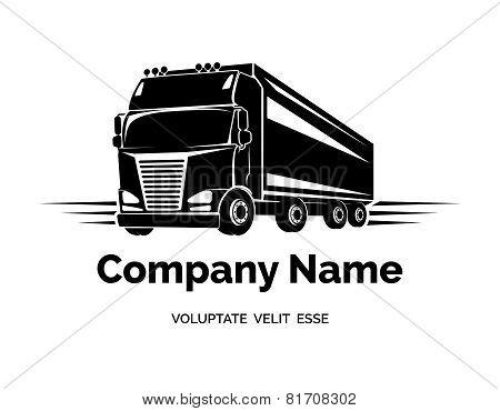 Vector cargo truck logo