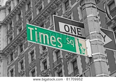 Street Signs For Times Square In Nyc