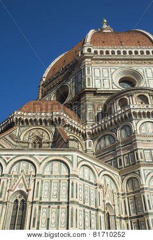 Closeup Of The Dome Of Santa Maria Del Fiore In Florence (italy)