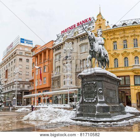 Zagreb snowy winter