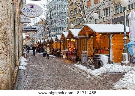 Zagreb Gajeva in the snow