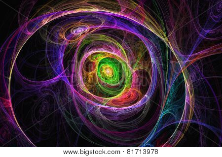 Abstract Colorful Fractal Texture