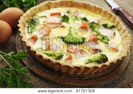 Quiche With Broccoli And Fish