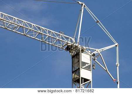 Crane On A Blue Sky Background