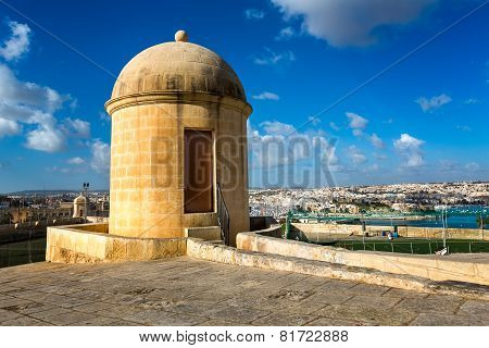 Watch Tower In Hastings Garden In Valletta, Malta