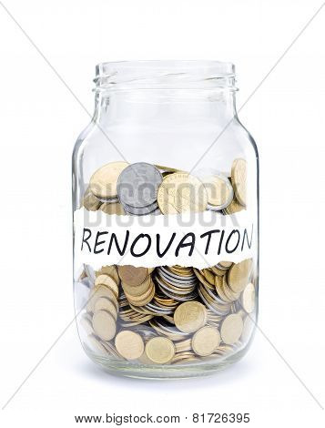 Jar with coins on Renovation.