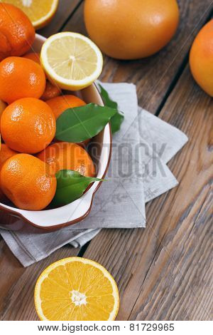 Citrus Fruits - Orange, Lemon, Tangerine, Grapefruit