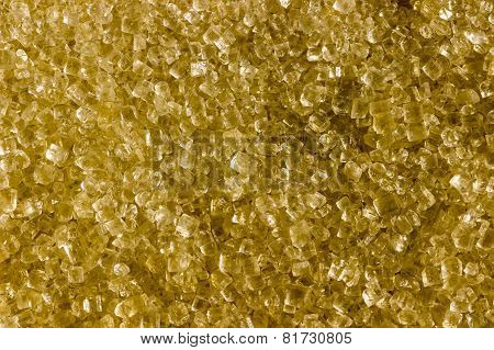 closeup macro view of sugar granules / crystals kept on direct sunlight