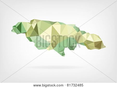 Low Poly map of Jamaica