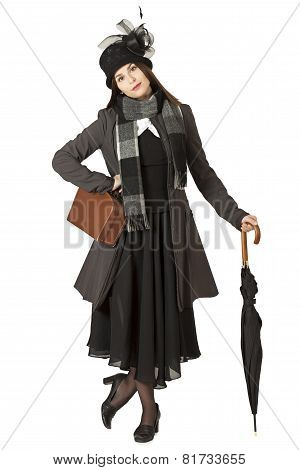 Young Woman In The Role Of Mary Poppins