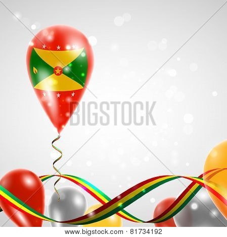 Flag of Grenada on balloon