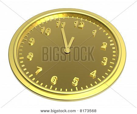 Clock isolated on white.
