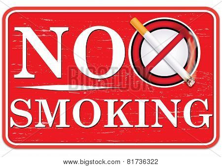 No smoking sign for print