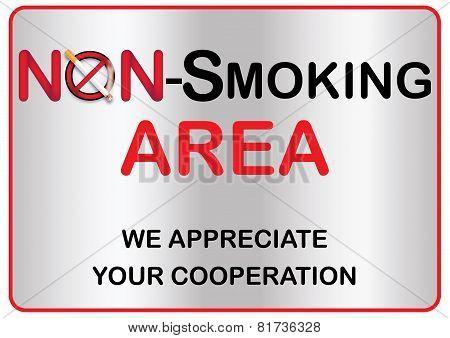 Non smoking area sticker