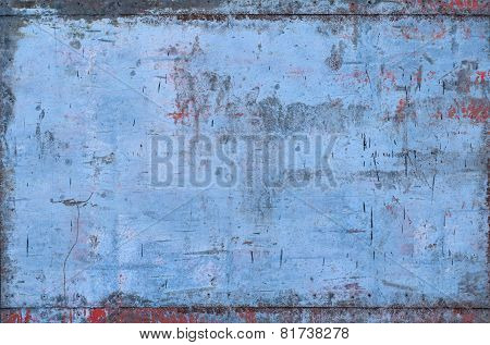 Blue Grungy Metal Texture