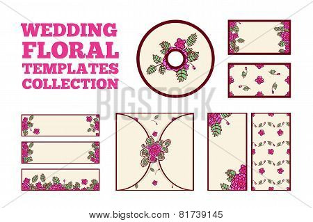 Wedding floral template collection